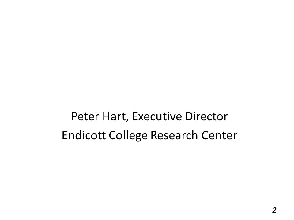 Peter Hart, Executive Director Endicott College Research Center 2