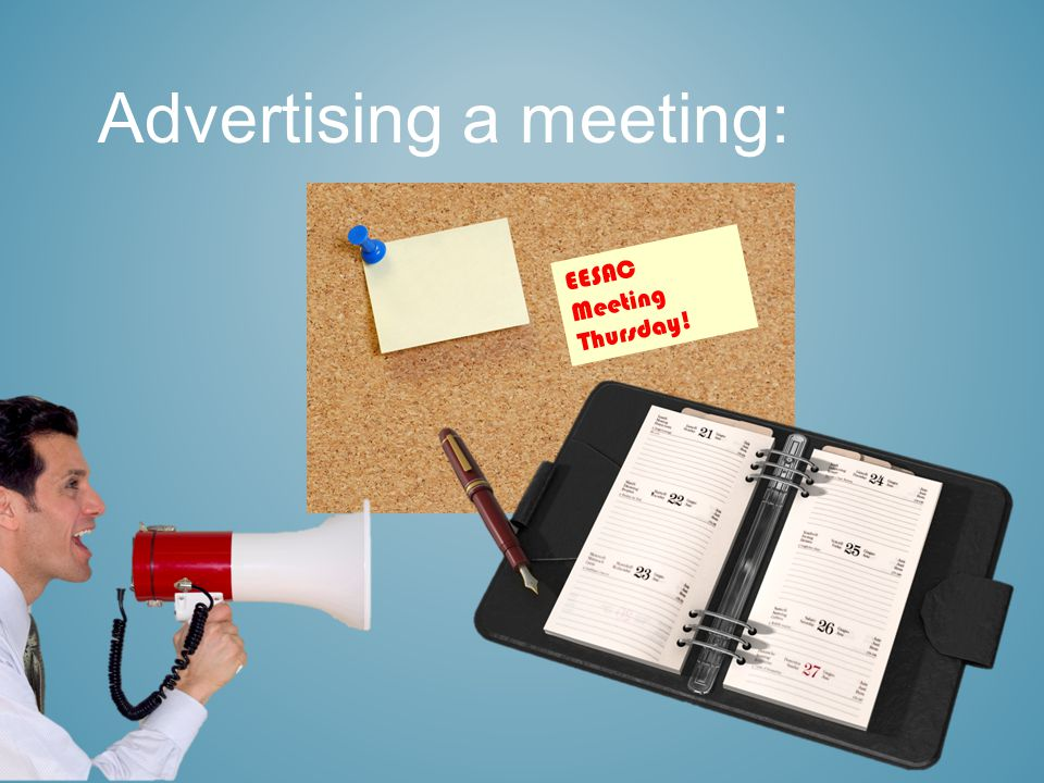 Advertising a meeting: EESAC Meeting Thursday!