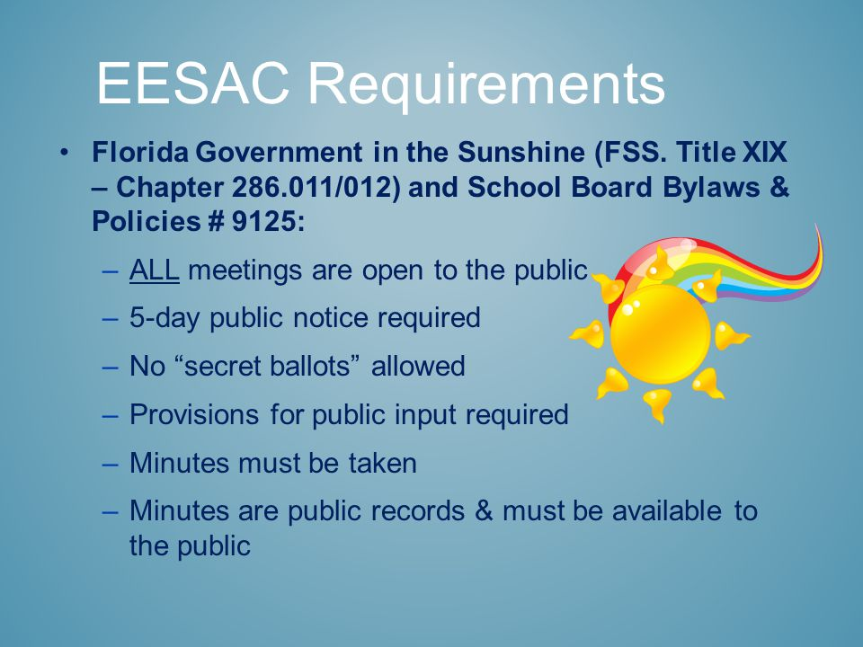 Florida Government in the Sunshine (FSS.