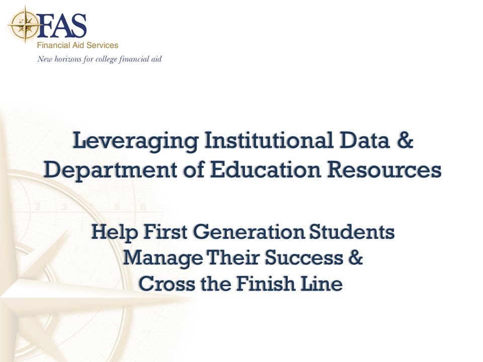Leveraging Institutional Data & Department of Education Resources