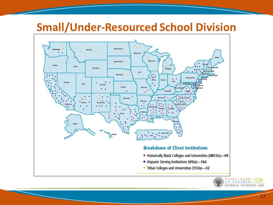 33 Small/Under-Resourced School Division