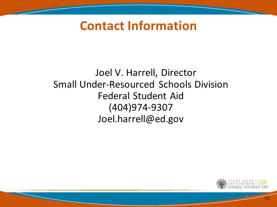 38 Contact Information Joel V.