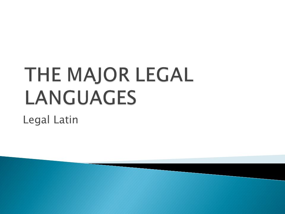  Legal German - a wealth of legal neologisms based on models provided by legal Latin  Old words in German often obtained a new legal meaning under the Latin influence  From legal German, these words were transmitted into the legal languages of Nordic countries and Central and Eastern Europe