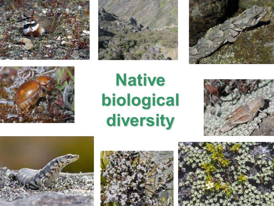 Native biological diversity