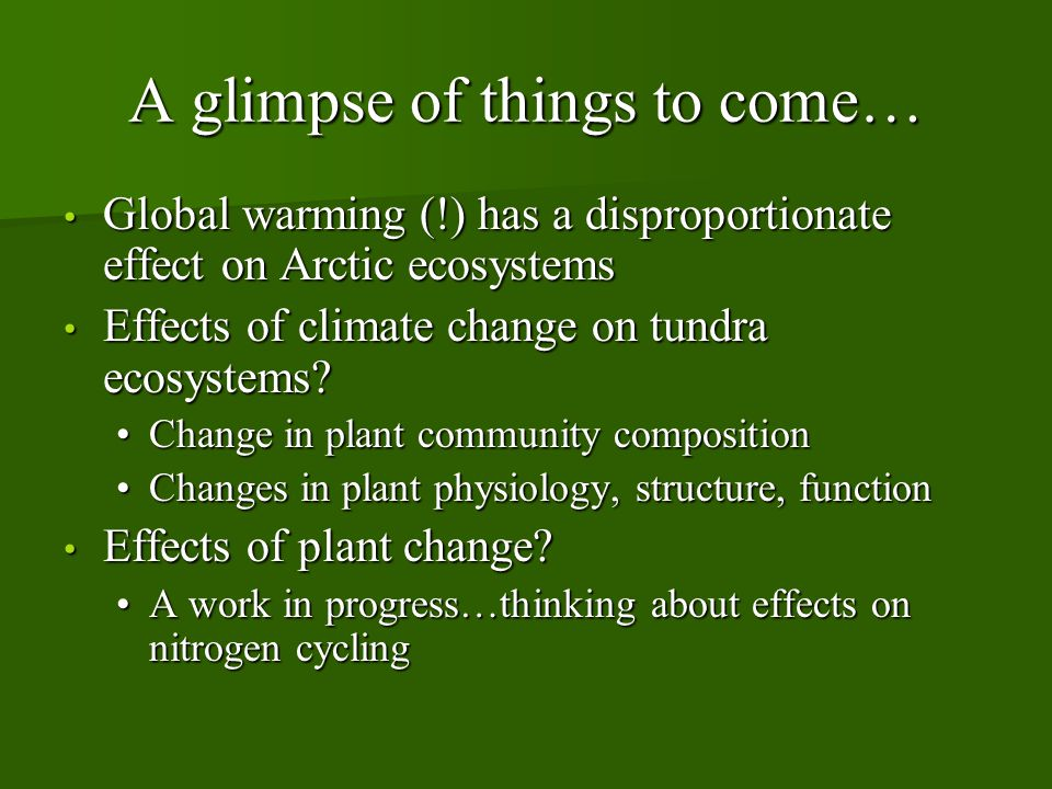 Climate change in the Arctic.