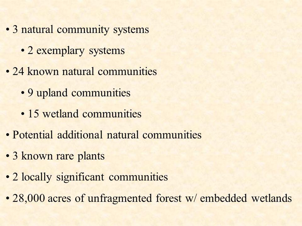 Hemlock-Beech-Oak-Pine Forest System (light green) Lowland Spruce-Fir Forest System (dark green)