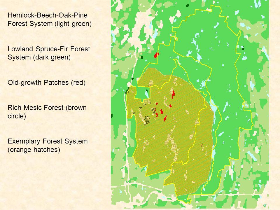 Marsh-Shrub Swamps (green) Peatlands (red) Kilburn Pond, Pisgah Reservoir, and Forested Swamps (turquoise)