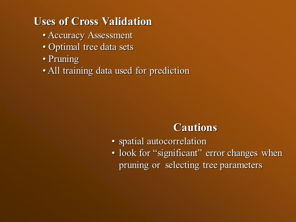 Accuracy Assessment: Cross Validation versus Independent Test, Zone 16, Utah
