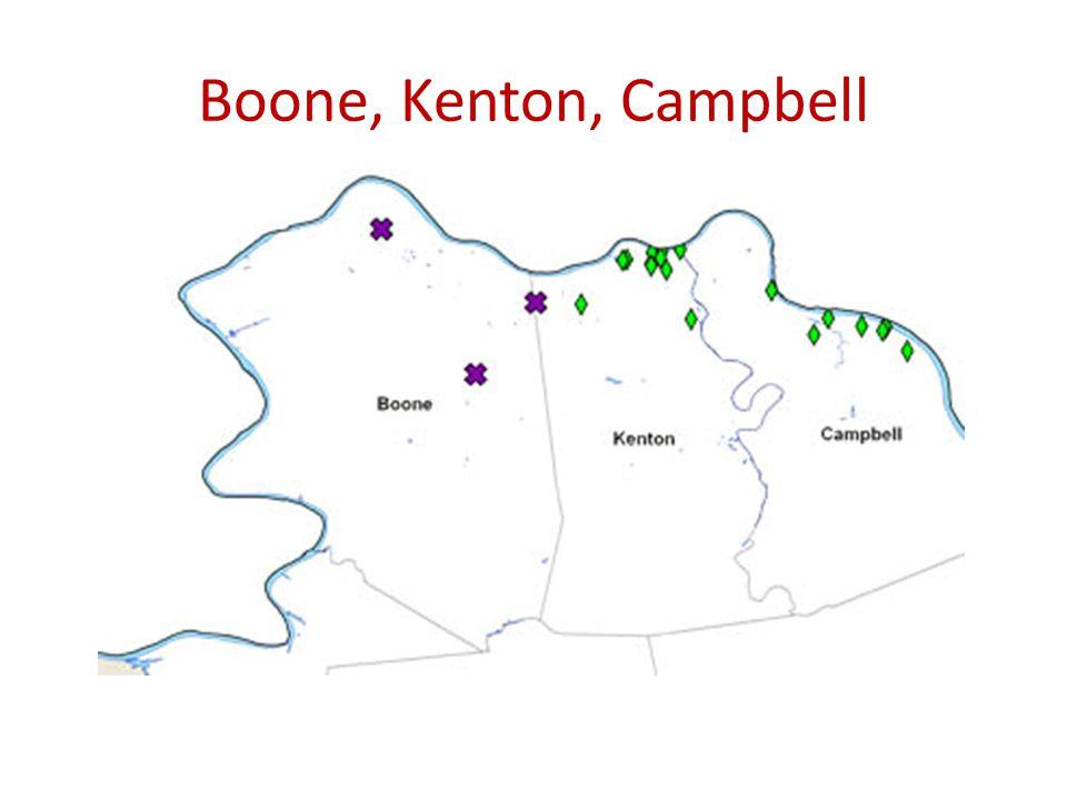 Boone, Kenton, Campbell