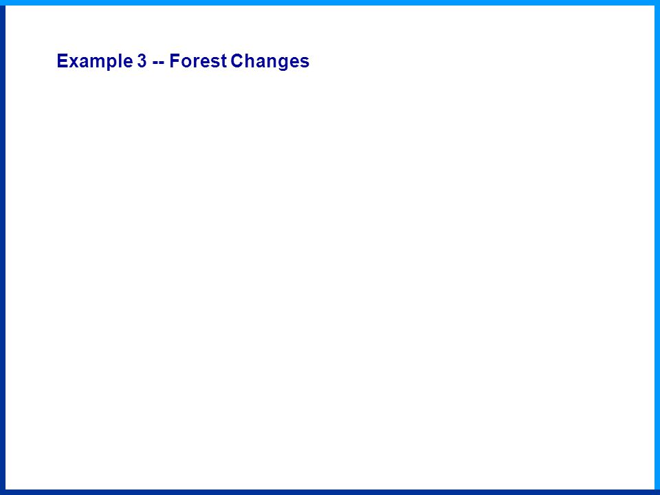 Example 3 -- Forest Changes