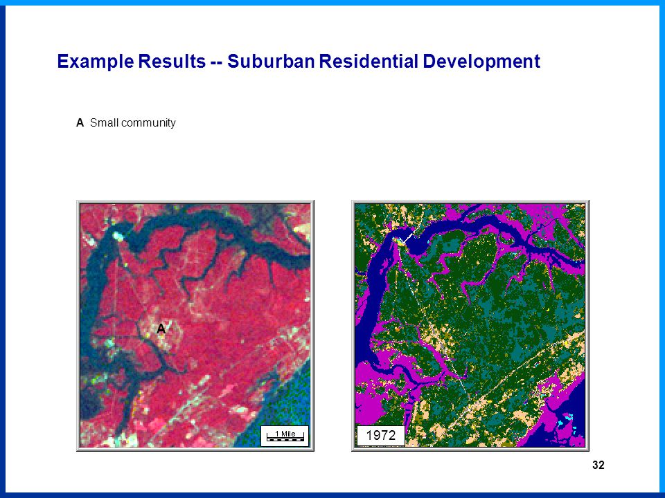 1972 A A Small community Example Results -- Suburban Residential Development 32