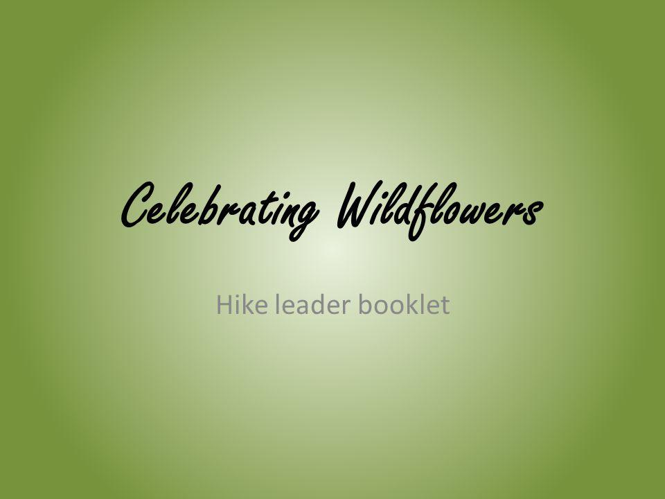 Celebrating Wildflowers Hike leader booklet