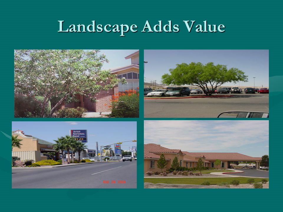 Landscape Adds Value