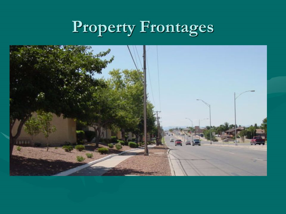 Property Frontages