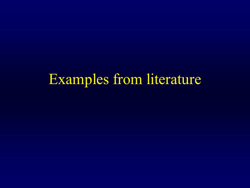 Examples from literature