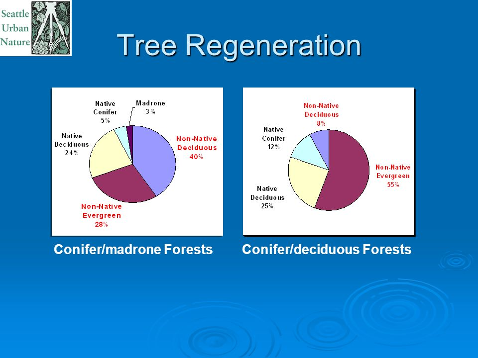 Tree Regeneration Conifer/deciduous ForestsConifer/madrone Forests