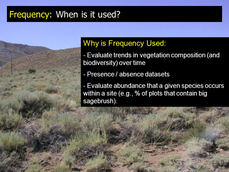 Frequency: When is it used.