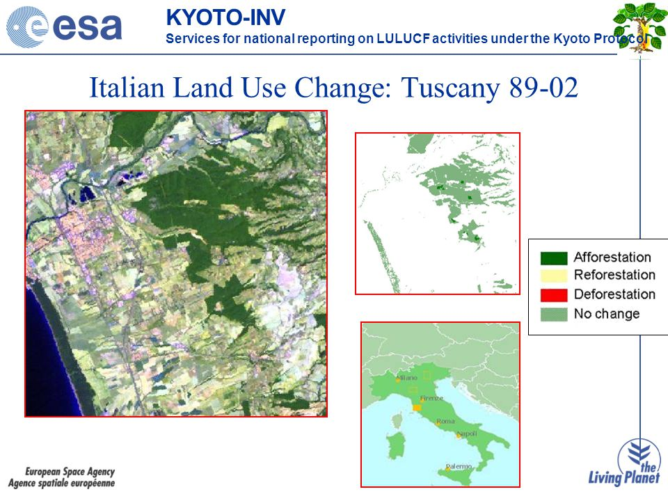 Italian Land Use Change: Tuscany 89-02 KYOTO-INV Services for national reporting on LULUCF activities under the Kyoto Protocol