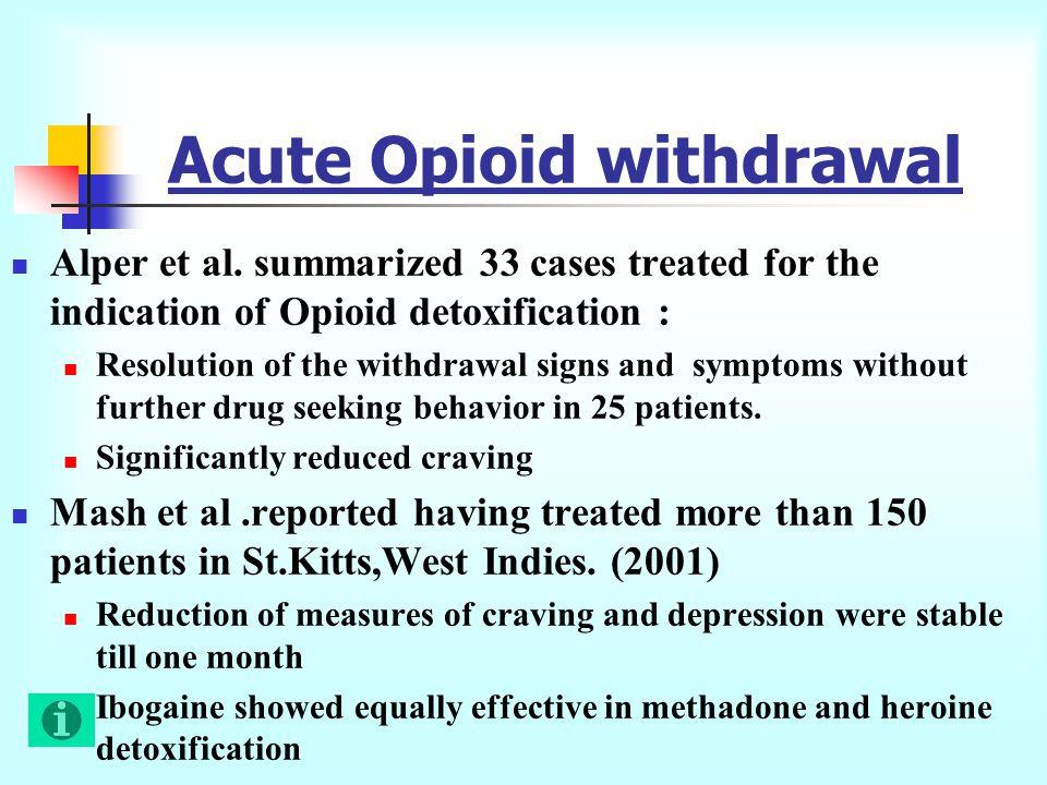 Acute Opioid withdrawal Alper et al.