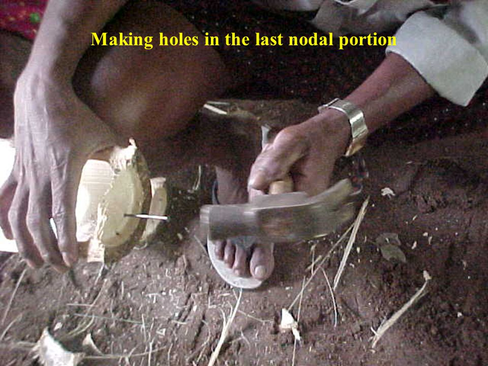 Making holes in the last nodal portion