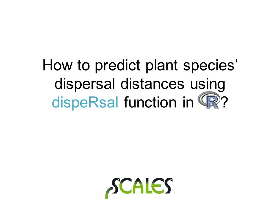 How to predict plant species' dispersal distances using dispeRsal function in