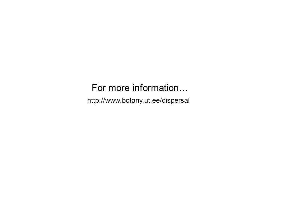 For more information… http://www.botany.ut.ee/dispersal