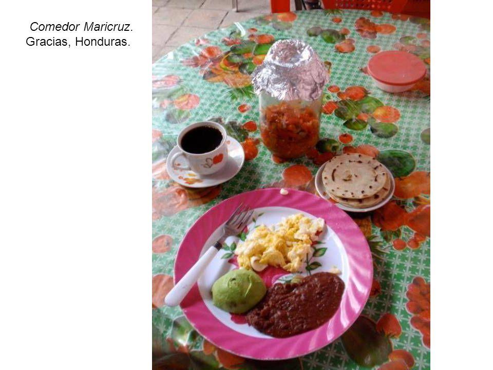 Comedor Maricruz. Gracias, Honduras.