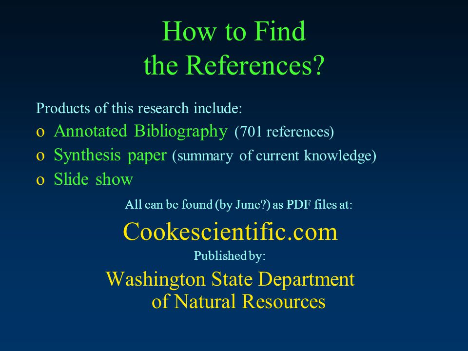 How to Find the References.