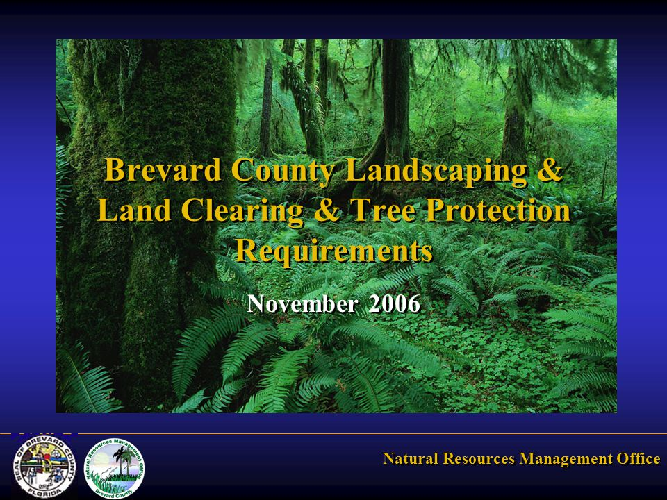 Natural Resources Management Office Brevard County Landscaping & Land Clearing & Tree Protection Requirements November 2006