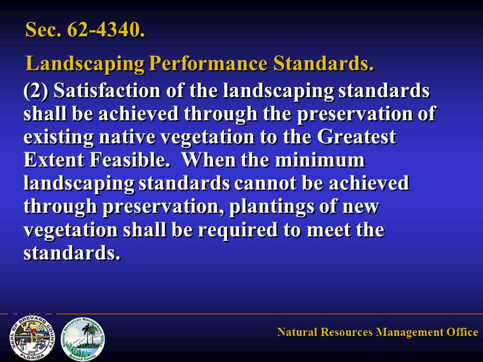 Natural Resources Management Office Sec. 62-4340.