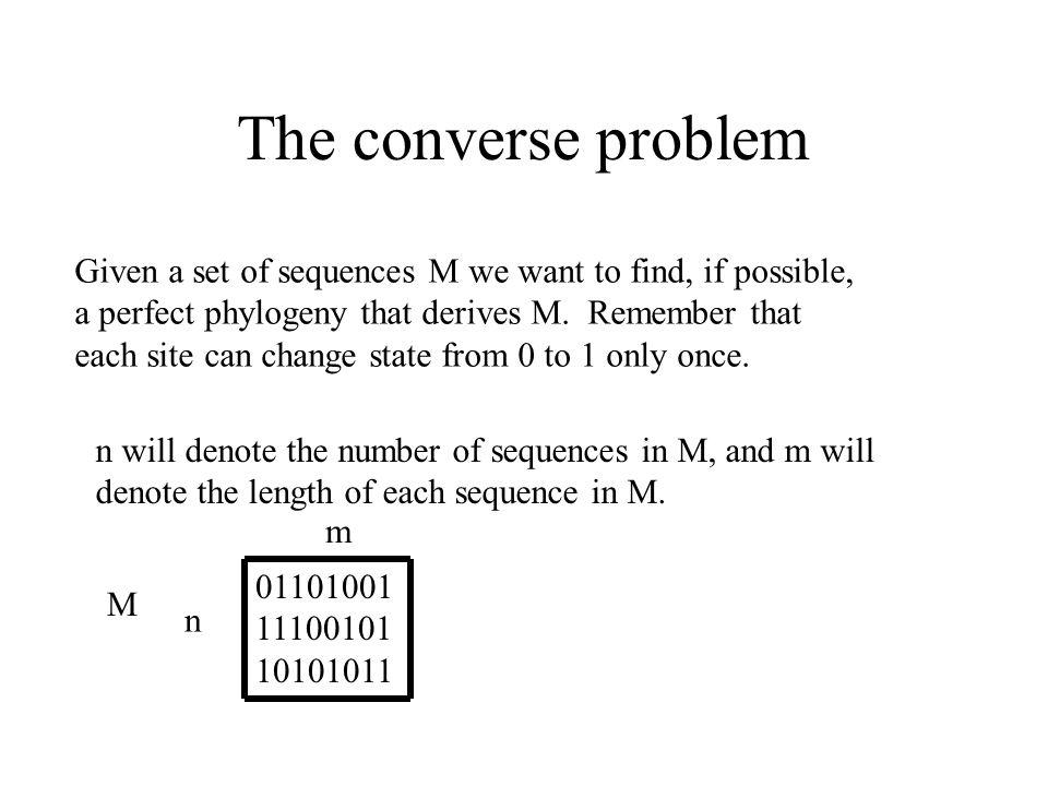 Classic NASC: Arrange the sequences in a matrix.