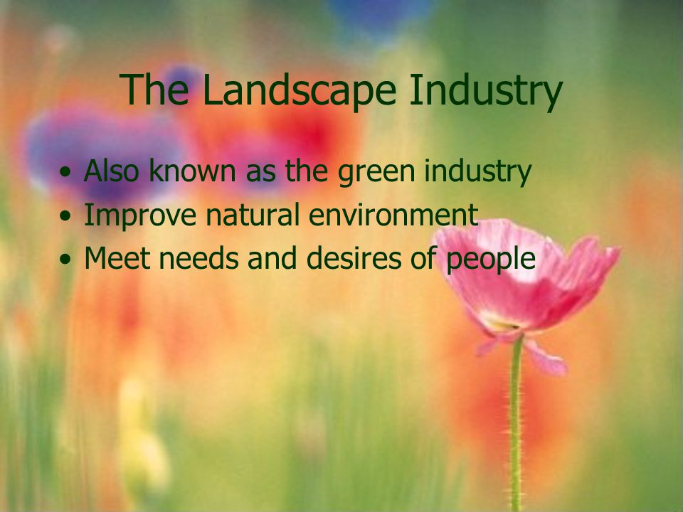 Landscape architect Professionals Integrate the principles of art and science Know how plants and landscape factors will react to the environment around them