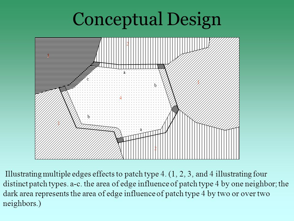 Conceptual Design 1 a 2 4 1 c 2 3 b b a Illustrating multiple edges effects to patch type 4.