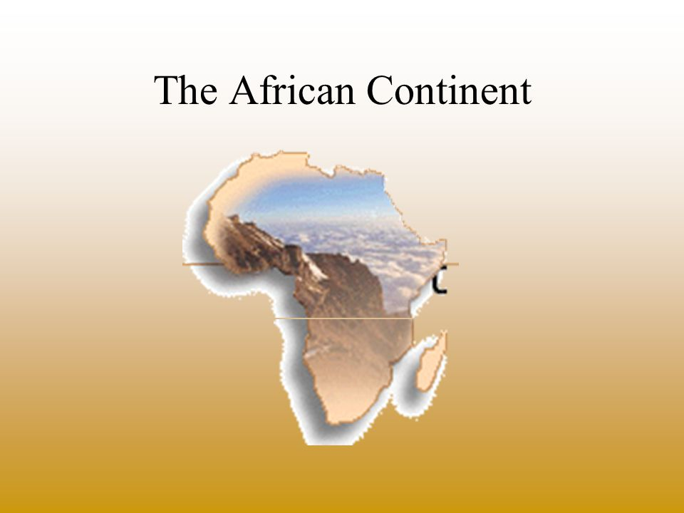 Africa is the second largest continent a fifth of the earth s landmass divided into 54 different countries the equator cuts the continent s into two nearly equal halves –generally divided into two regions with reference to the Sahara (the world s largest desert) north of the Sahara sub-Saharan region
