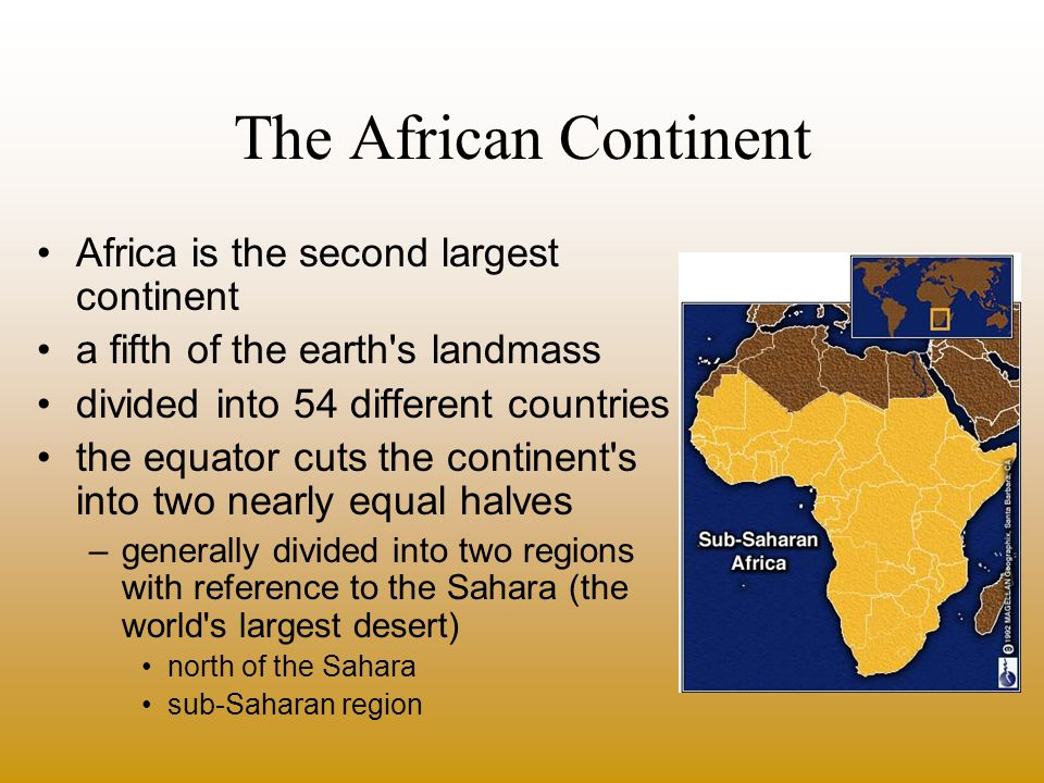 The African Continent landmass largely consists of plateau land –plateau can be divided into two regions southeastern portion includes the Ethiopian Plateau, the East African Plateau and the Drakensberg Range.