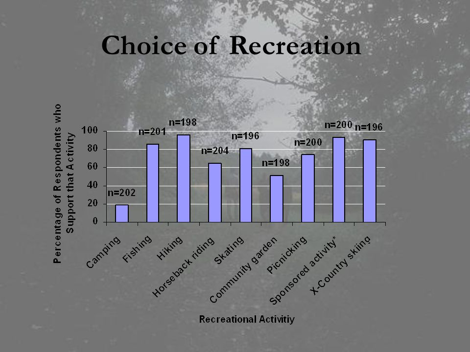 Choice of Recreation