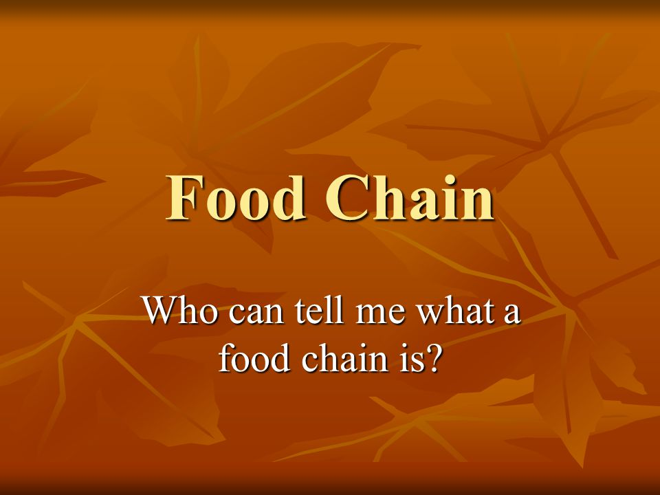 What is a food chain.Shows how each living thing gets its food.