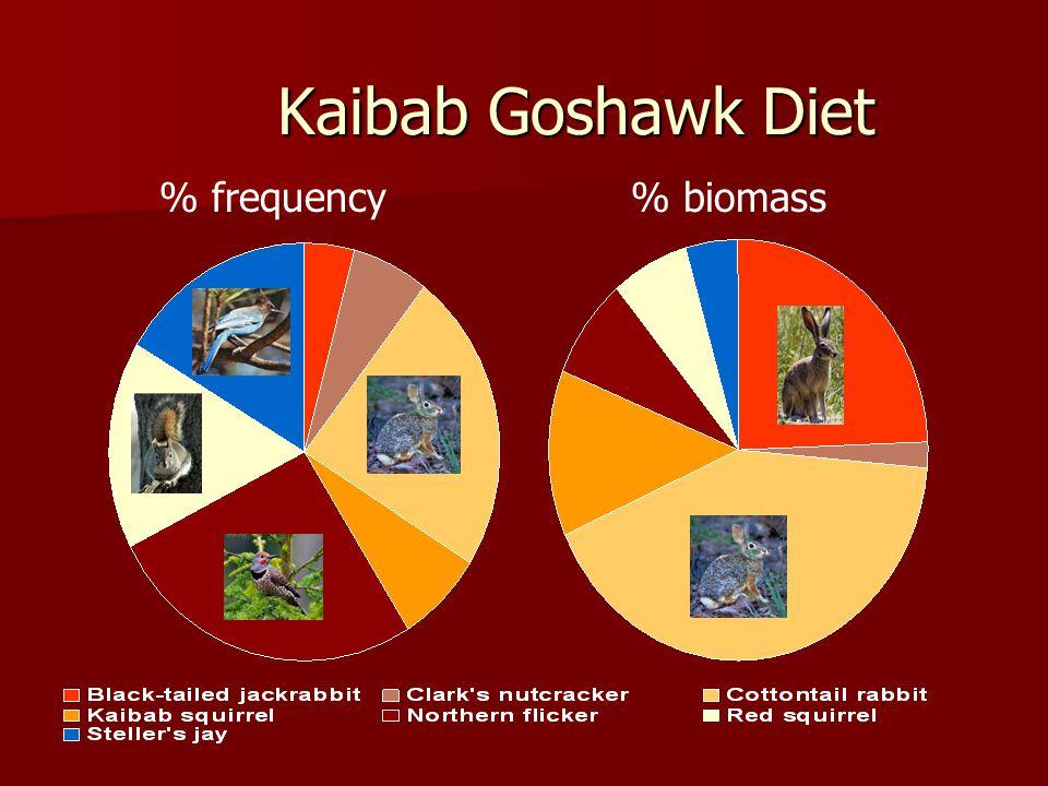 Kaibab Goshawk Diet % frequency% biomass
