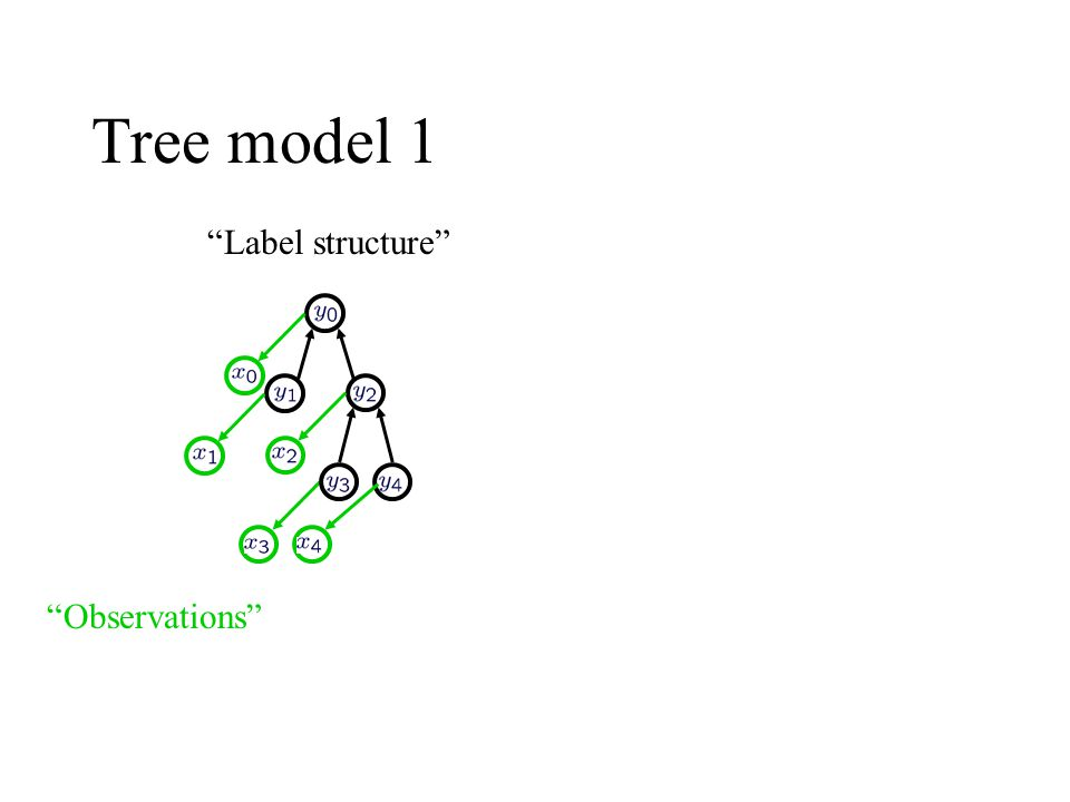 """Tree model 1 """"Label structure"""" """"Observations"""""""