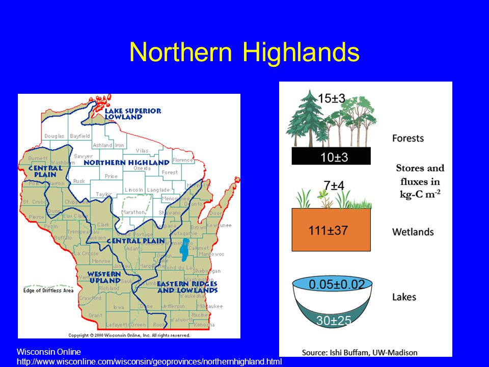 Northern Highlands Wisconsin Online http://www.wisconline.com/wisconsin/geoprovinces/northernhighland.html