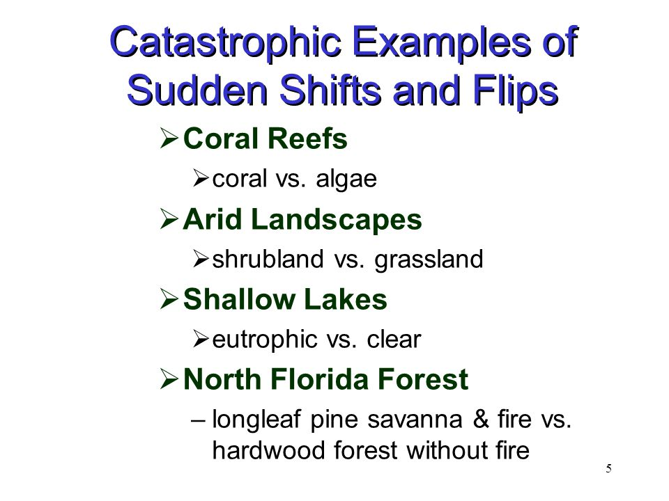 5 Catastrophic Examples of Sudden Shifts and Flips  Coral Reefs  coral vs.