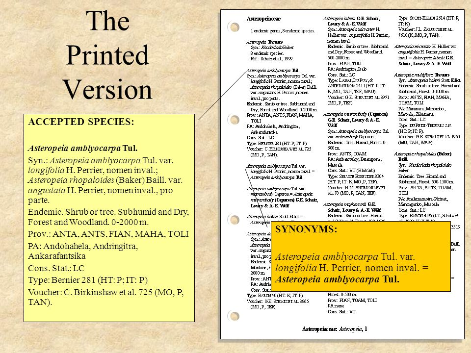 The Printed Version PRESENTATION: File Bound to enable easy replacement of out-of-date pages – available through web- site