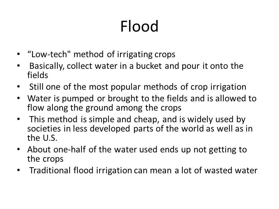 """Flood """"Low-tech"""