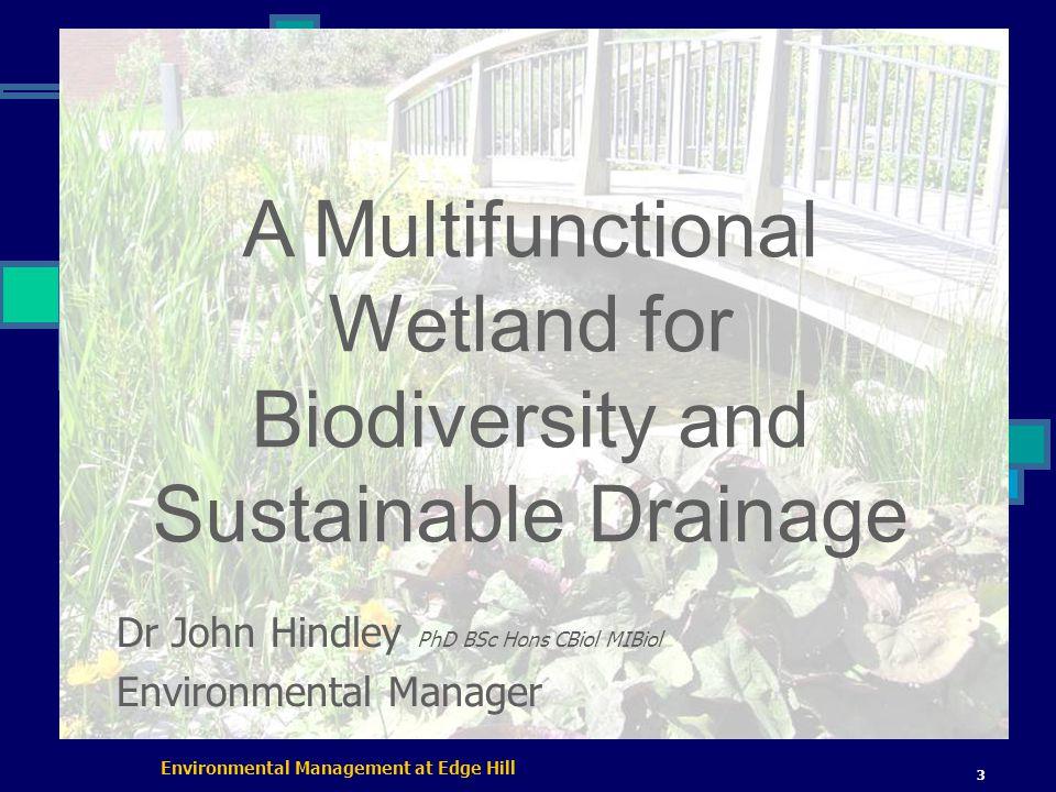 Environmental Management at Edge Hill 14 Formal Pool / Weir Circulation/aeration (2 features 1 pump!)