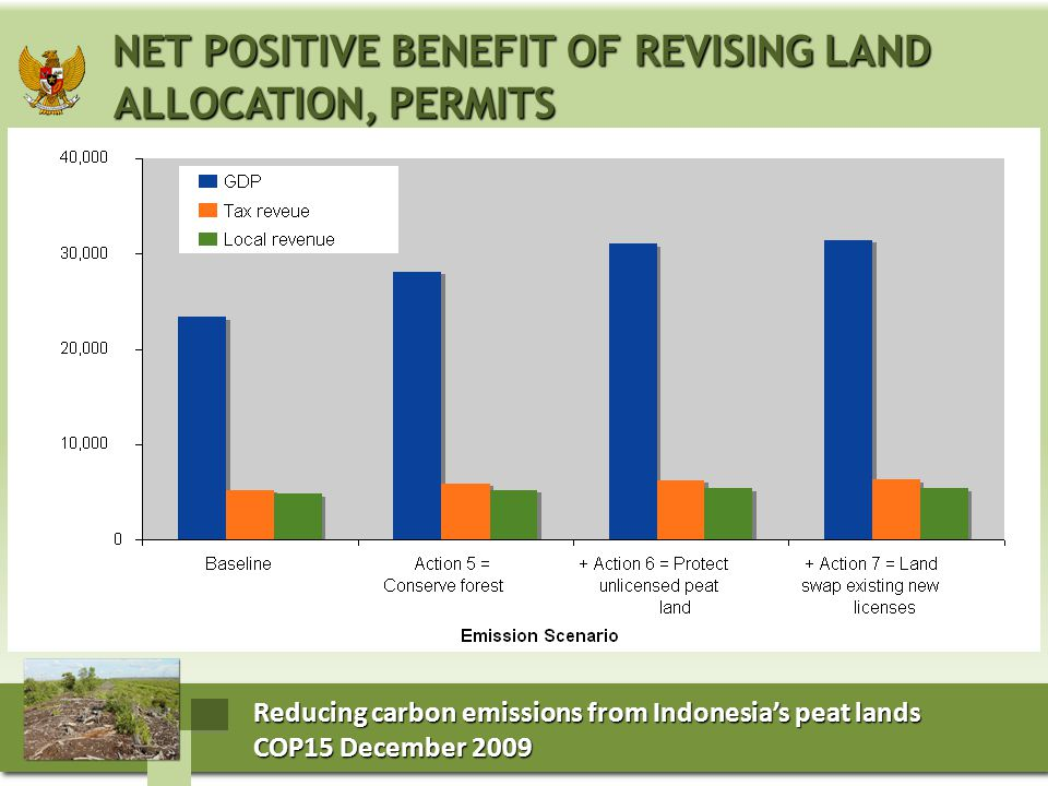 Reducing carbon emissions from Indonesia's peat lands COP15 December 2009 COP15 December 2009 Reducing carbon emissions from Indonesia's peat lands CO