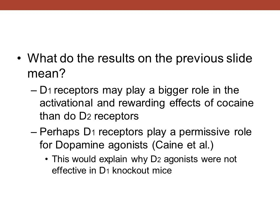 What do the results on the previous slide mean.
