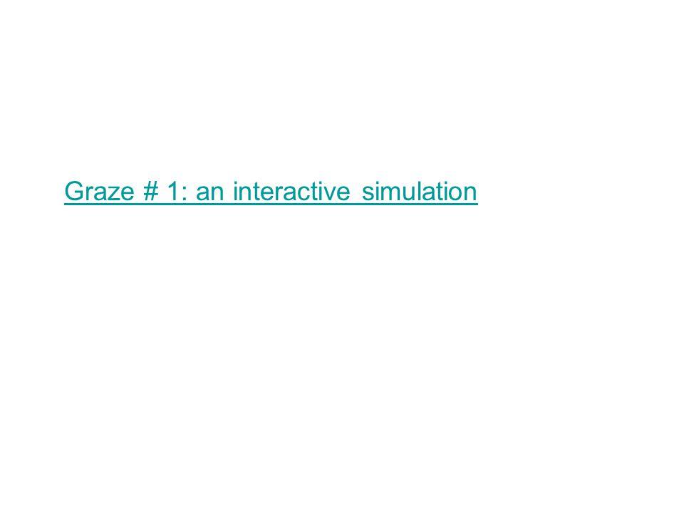 Graze # 1: an interactive simulation