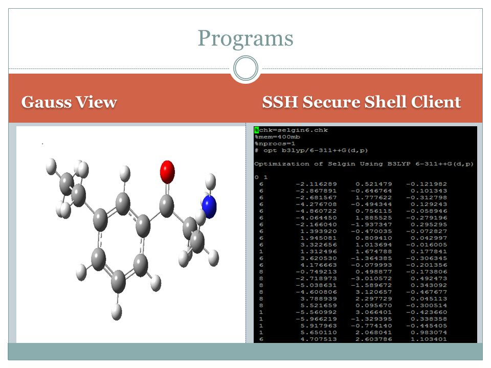 Gauss View SSH Secure Shell Client Programs