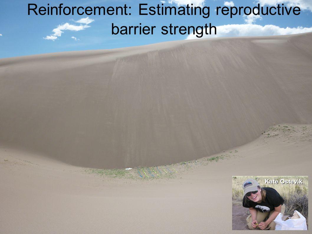 Reinforcement: Estimating reproductive barrier strength Kate Ostevik