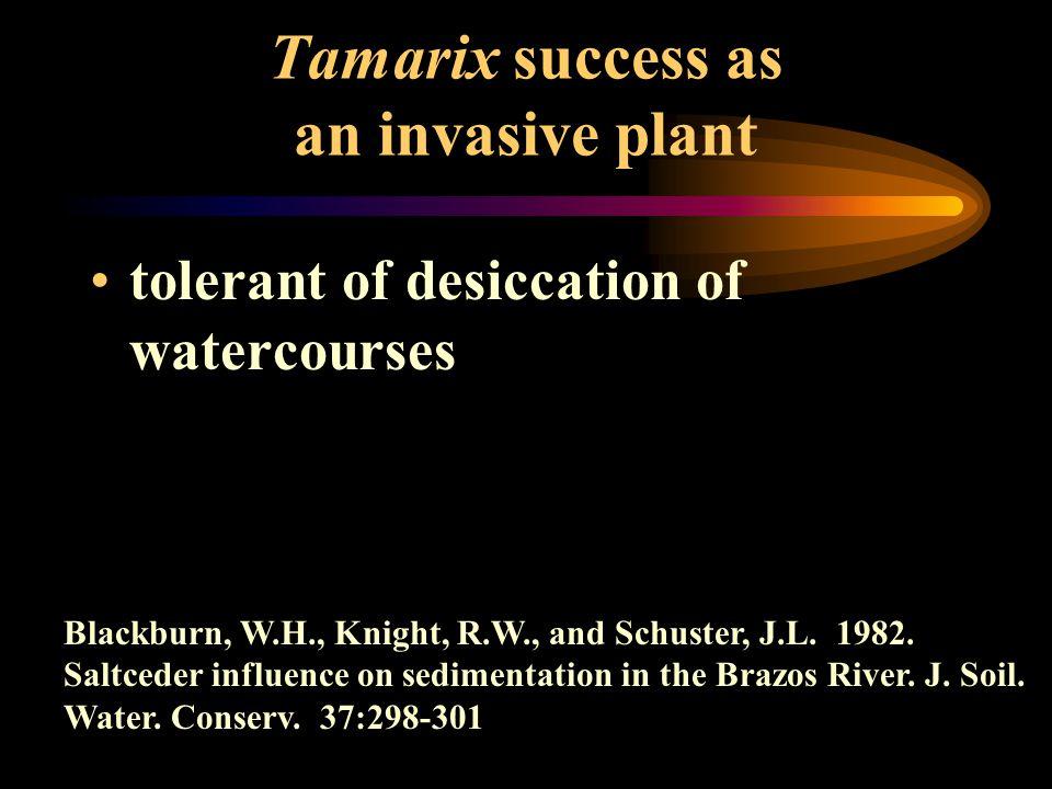 tolerant of desiccation of watercourses Blackburn, W.H., Knight, R.W., and Schuster, J.L.